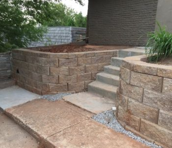 What are the different types of retaining walls in Oklahoma City?