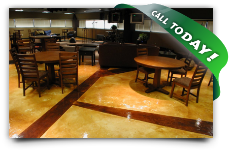 Stained Concrete - Nichols Hills OK